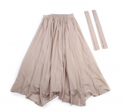 Mi-mollet length cloth suspender skirt all-in one-piece with rubber waist for woman