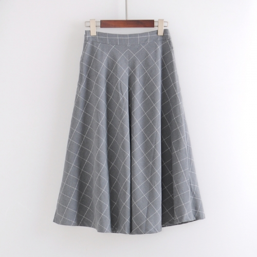 Formal middle length skirt ladies botton pretty  gather skirt