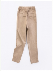 Rubber waist ladies pants bigger pure casual pants simple pants for woman