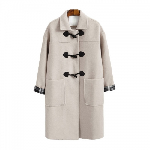 Double coat ladies big size outer long coat for winter cotton in winter warm coat