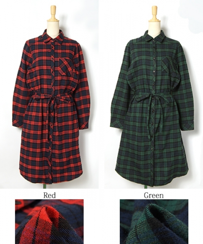 long shirt ladies plaid shirt tops