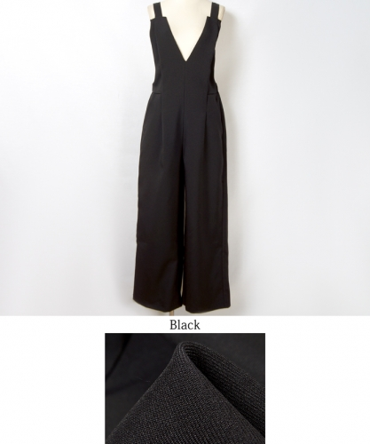 V Neck  Womens Leisure Pants One-piece Jumpsuit